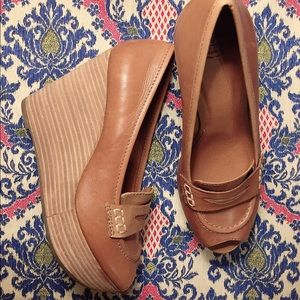 Lucky Bland Wedges Loafer size 7.5